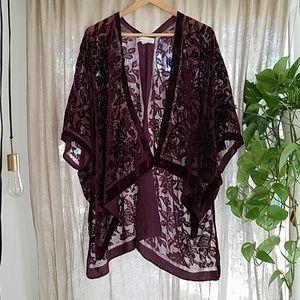 Mulberry velvet kimono